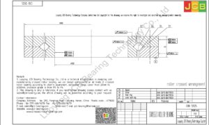 CRB 12025 IKO CROSSED ROLLER BEARING