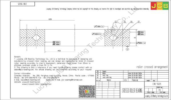 CRB 15025 IKO CROSSED ROLLER BEARING