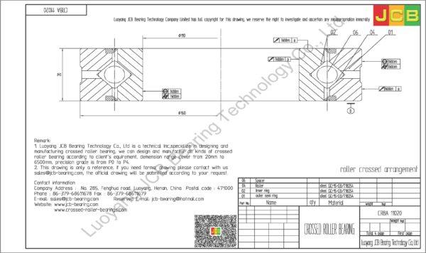 CRBA 11020 HIWIN CROSSED ROLLER BEARING