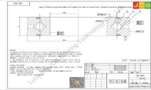 CRBA 18025 HIWIN CROSSED ROLLER BEARING