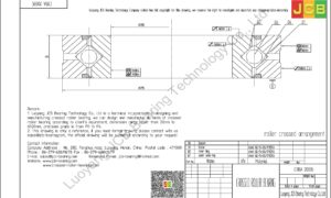 CRBA 20035 HIWIN CROSSED ROLLER BEARING