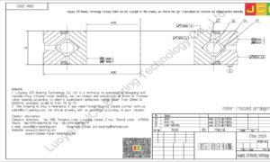 CRBA 22025 HIWIN CROSSED ROLLER BEARING