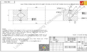 CRBA 25040 HIWIN CROSSED ROLLER BEARING