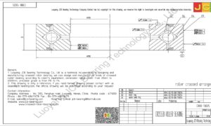 CRBB 13025 HIWIN CROSSED ROLLER BEARING