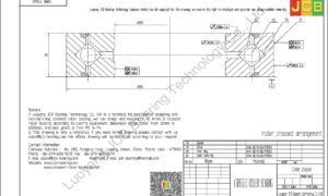 CRBB 25040 HIWIN CROSSED ROLLER BEARING