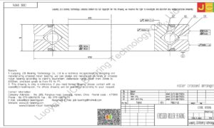 CRBC 09016 HIWIN CROSSED ROLLER BEARING