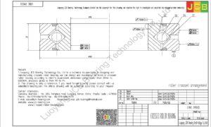 CRBC 09020 HIWIN CROSSED ROLLER BEARING