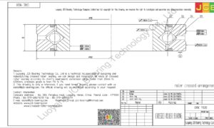 CRBC 11020 HIWIN CROSSED ROLLER BEARING