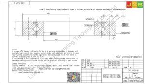 CRBC 14025 UU IKO CROSSED ROLLER BEARING