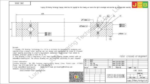 CRBC 20035 IKO CROSSED ROLLER BEARING