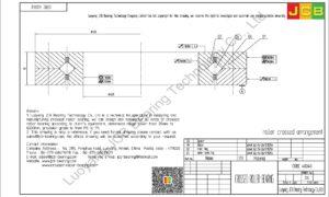 CRBC 40040 IKO CROSSED ROLLER BEARING