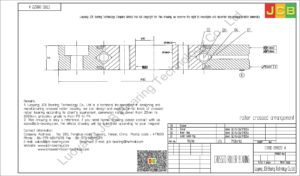 CRBD 08022 A HIWIN CROSSED ROLLER BEARING