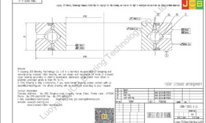 CRBH 12025 A UU IKO CROSSED ROLLER BEARING