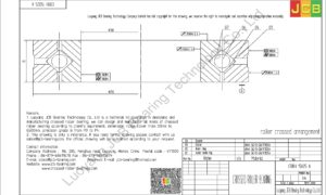 CRBH 15025 A IKO CROSSED ROLLER BEARING