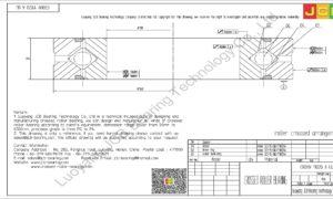 CRBHV 11020 A UU IKO CROSSED ROLLER BEARING