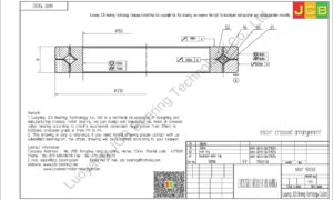 NRXT 15030E NSK CROSSED ROLLER BEARING