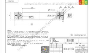 NRXT 20025E NSK CROSSED ROLLER BEARING
