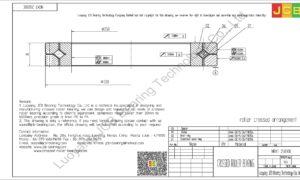 NRXT 25030E NSK CROSSED ROLLER BEARING
