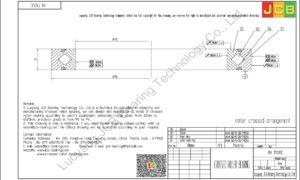 RA 17013C THK CROSSED ROLLER BEARING