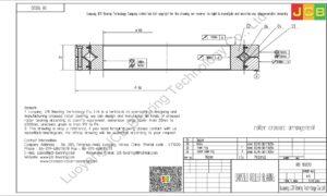RB 10020 THK CROSSED ROLLER BEARING