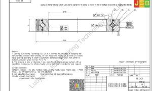RB 12025 THK CROSSED ROLLER BEARING