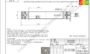 RB 1250110 THK CROSSED ROLLER BEARING