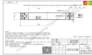 RB 17020 THK CROSSED ROLLER BEARING
