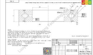 RE 11012 THK CROSSED ROLLER BEARING