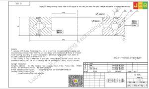 RE 11015 THK CROSSED ROLLER BEARING