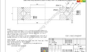 RE 13015 THK CROSSED ROLLER BEARING