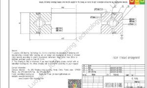 RE 14016 THK CROSSED ROLLER BEARING