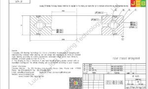 RE 14025 THK CROSSED ROLLER BEARING