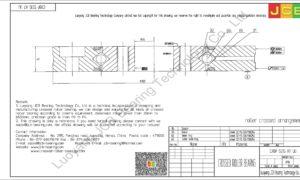 CRBF 5515 AT UU IKO CROSSED ROLLER BEARING